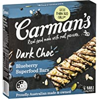 Carman's Muesli Bar Dark Choc Blueberry Superfood, 6-Pack (210g)
