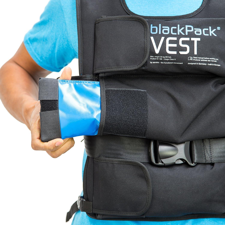 bis 25kg Gewicht Einfach sauberzuhalten Schnell zu be- und entladen blackPack Vest Fitness Gewichtswesten