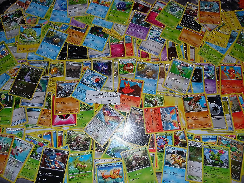 PACK 50 cartes POKEMON ALEATOIRE XY communes et quelques rares holo ou reverse