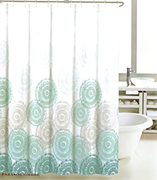 Amazoncom Max Studio Home Cotton Shower Curtain Sea Medallion