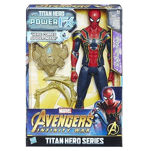 Marvel Avengers Infinity War Titan Hero Series Iron Spider Power FX Port Kid Toy