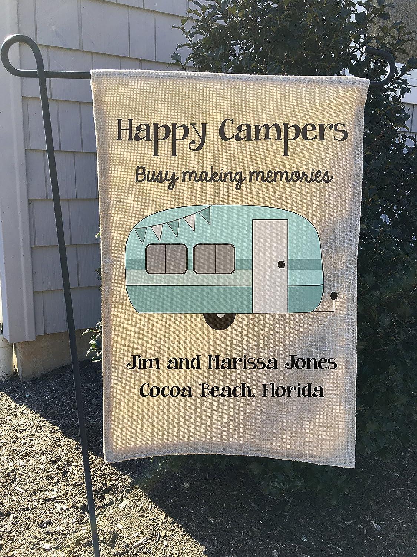 Bandera de arpillera para Jardín, Bandera de Campamento, Camping o Camping con Bandera Personalizada de Camping DE 32 x 45 cm o 70 x 100 cm.: Amazon.es: Jardín