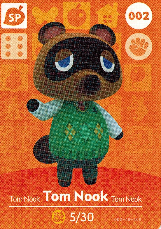 Nintendo Animal Crossing Happy Home Designer Amiibo Card Tom Nook 002/100