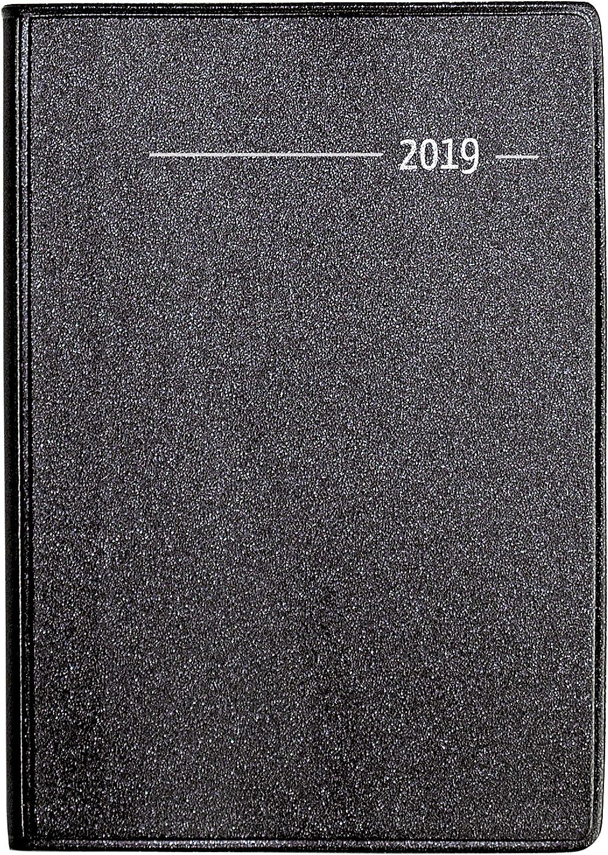 Agenda Settimanale Metallic 2019 Nera 8X11,5 Cm