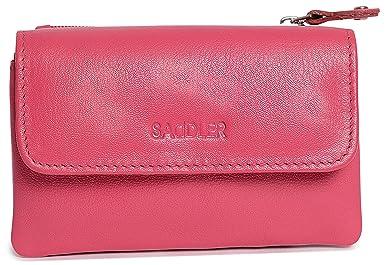 Amazon.com: Saddler Womens Compact soft Nappa piel Triple ...
