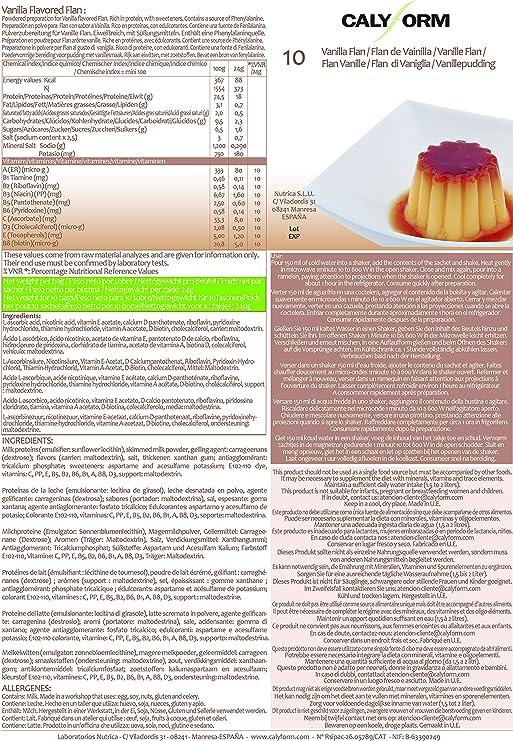 CALYFORM Flan Proteico para dieta sabor Vainilla saciante | Proteína en polvo para preparar flanes | Dieta proteica de calidad y aporte en aminoácidos ...