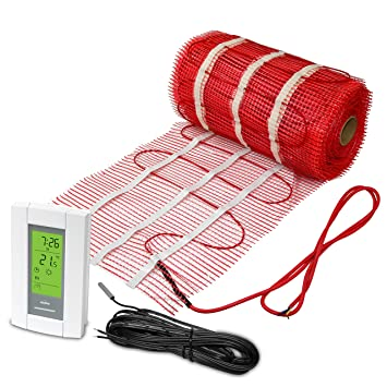 90 Sqft Mat Electric Radiant Floor Heat Heating System With Aube Digital Sensing Thermostat