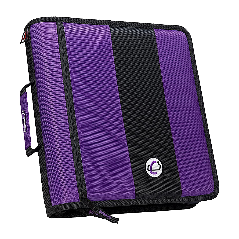 Case-it 2-Inch Ring Zipper Binder, Purple, D-251-PUR-18