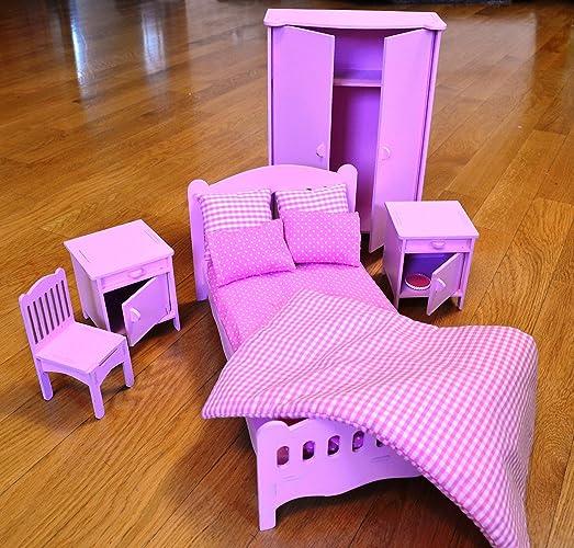 Amazon Com Barbie Bedroom Big Dolls House Furniture Handmade Barbie