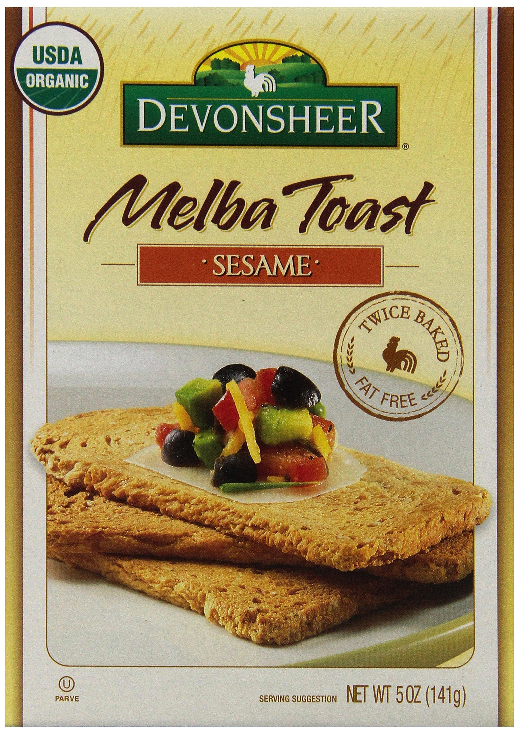 Devonsheer Sesame Melba Toast, 5-Ounce Boxes (Pack of 12) by Devonsheer
