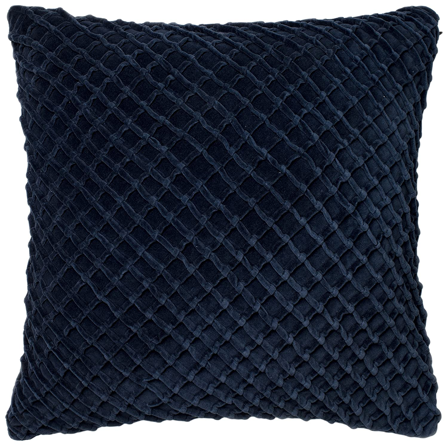 Loloi Loloi-PSETP0125NV00PIL3-Navy Decorative Accent Pillow 100/% Cotton Velvet Cover with Poly Fill 22 x 22 22 x 22 Navy Loloi Rugs Inc