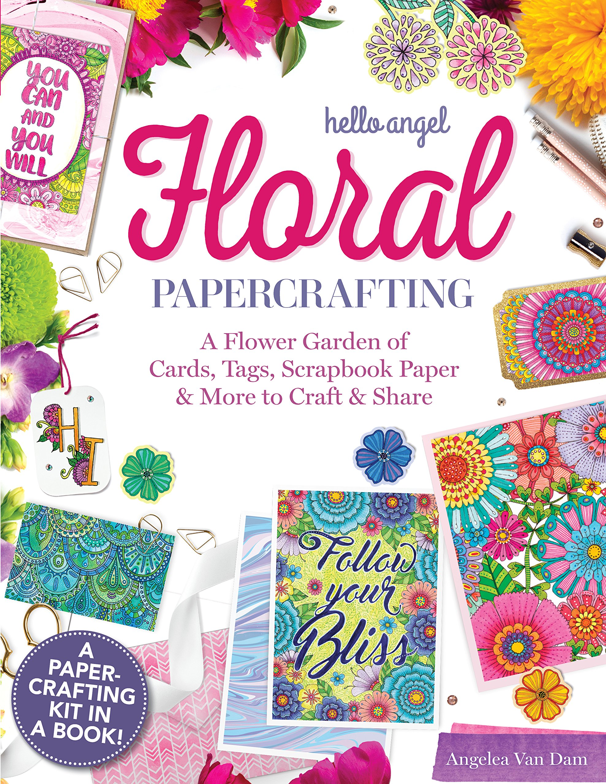 Hello Angel Floral Papercrafting A Flower Garden Of Cards Tags