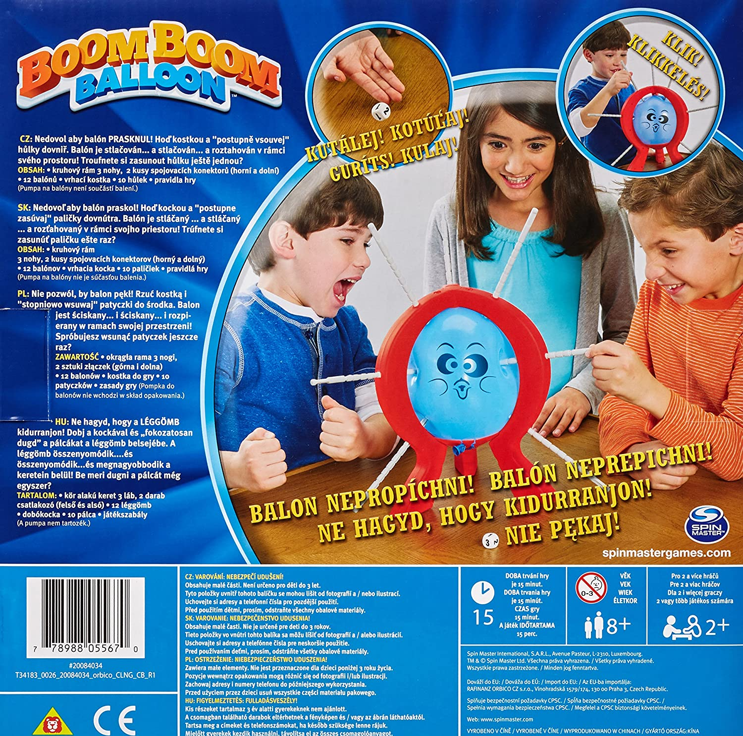New Spin Master Games Boom Boom Balloon Board Game Free Shipping