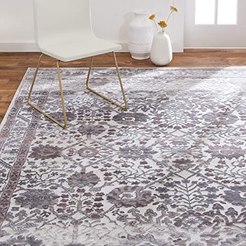 Home Dynamix Kenmare Celeste Rug, 9 2 x12 5 Rectangle, Gray Oat