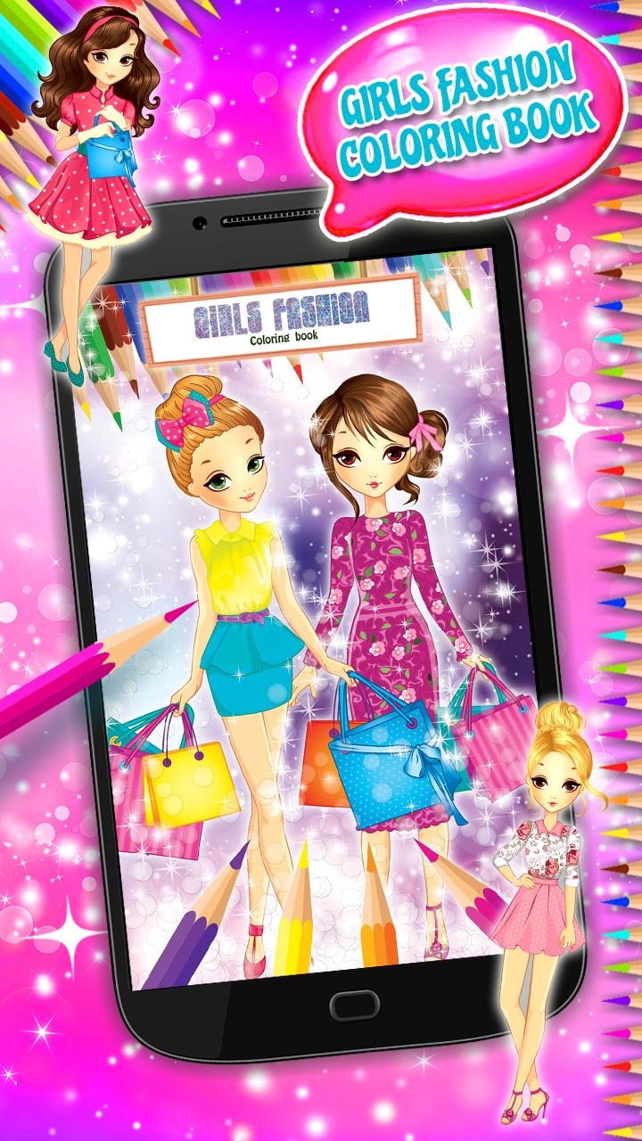 Libro de colorear de moda de chicas: Amazon.es: Appstore para Android