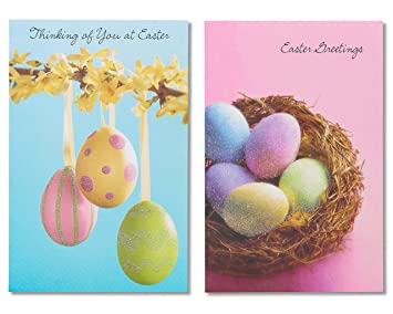 Amazon american greetings blue and pink easter egg cards 6 american greetings blue and pink easter egg cards 6 count m4hsunfo