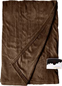 Biddeford Electric Heated Blanket with Digital Controller, Full, Chocolate