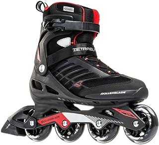 Rollerblade Zetrablade Skate - 4x80mm/84A Wheels - SG 5 Performance Bearings - Black/Red - US Men's 12