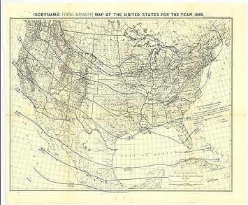 Amazoncom 18 x 24 Canvas 1885 USA old nautical map drawing chart