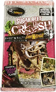 Wildgame Innovations Sugar Beet Crush 4LB Sweet and Salty Licking Brick