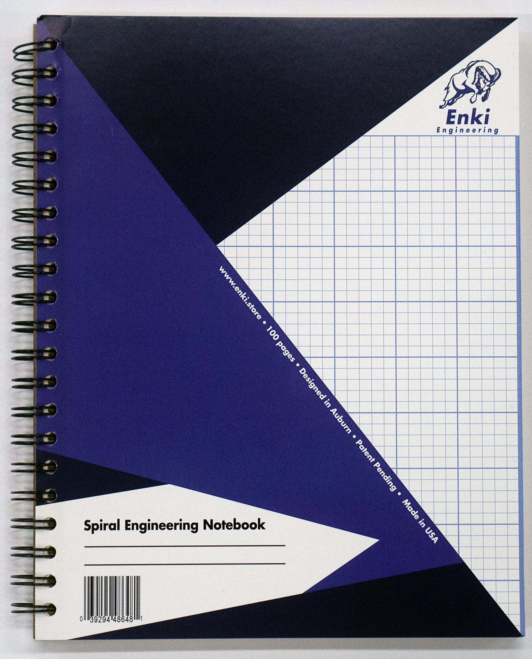Engineering Paper 200 sheet - Spiral Notebook (Blue Cover) by Enki Engineering