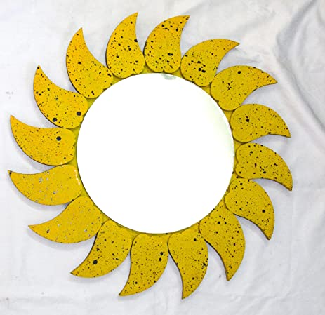 Amazon.com: Hand Crafted Antique Wooden Yellow Black Spotted Leaves ...