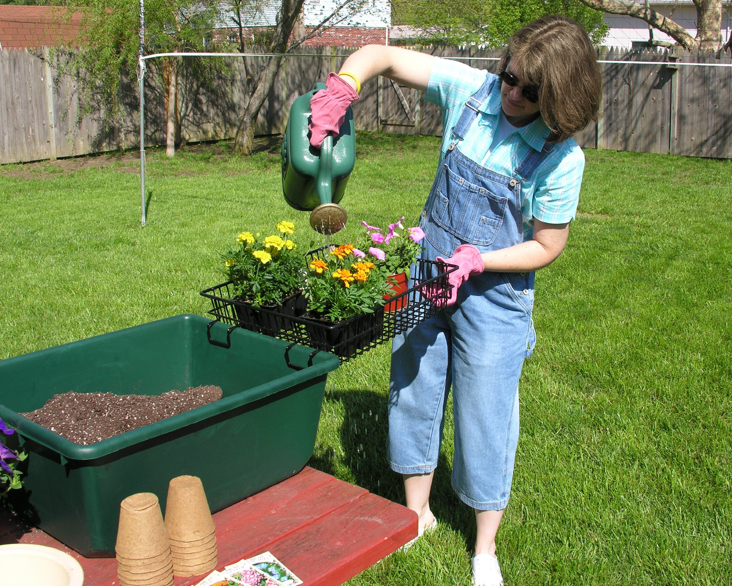 The Potting Caddy-flower, seed and planting soil portable tabletop potting gardening bench by The Potting Caddy