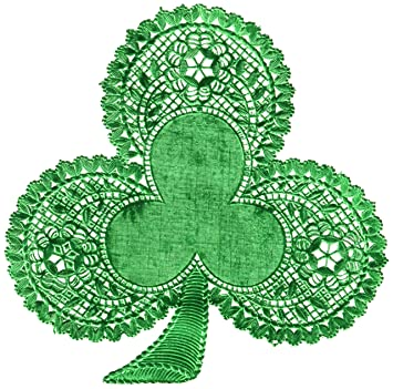 Amazon paper doilies 6 18pkg green shamrock arts crafts paper doilies 6quot 18pkg green shamrock voltagebd Images