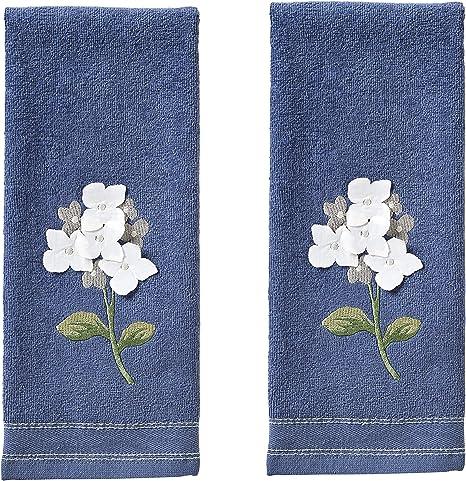 Amazon Com Skl Home By Saturday Knight Farm Hydrangea Hand Towel Set Blue 16 X 25 Home Kitchen