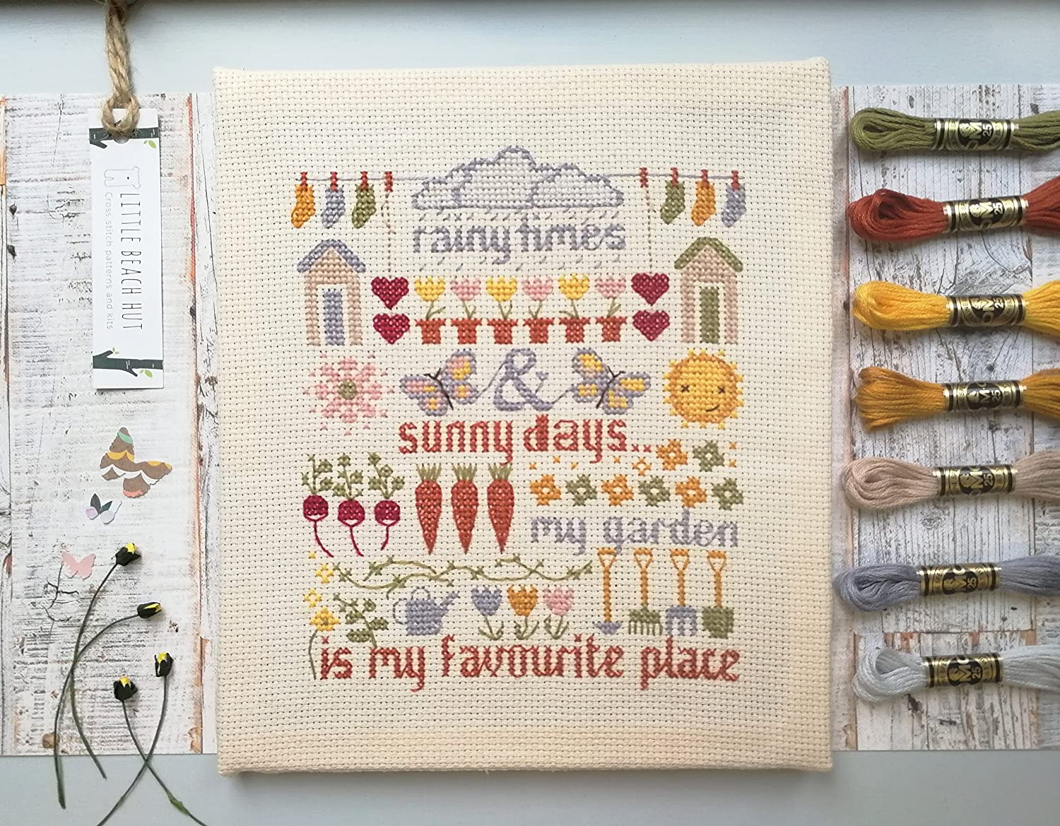 DIY Chart Counted Cross Stitch Patterns Needlework DMC Color The Potting Shed
