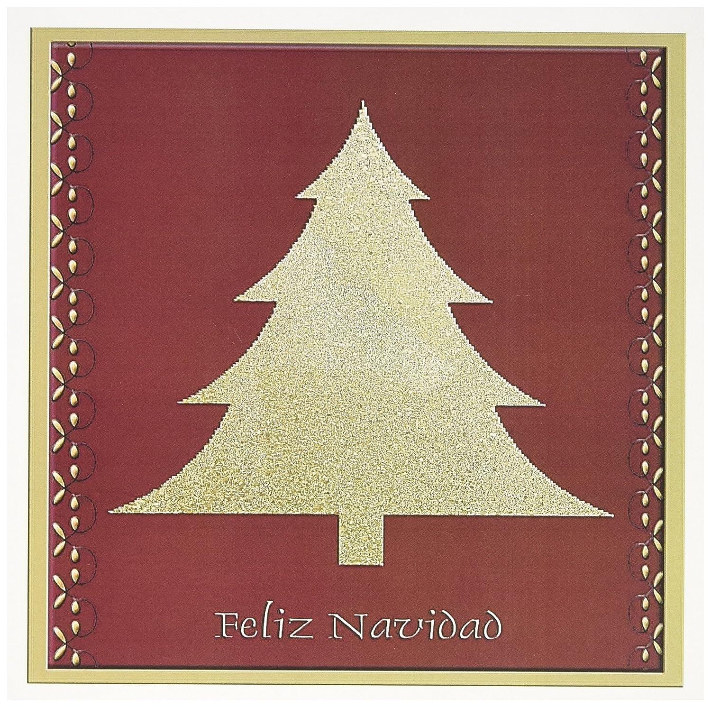Amazon Gold Tree On Red Feliz Navidad Merry Christmas Spanish