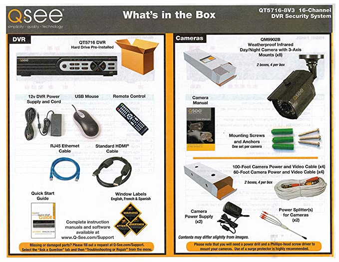 Q-See QT5716-8V3-2 16-Channel DVR 960H Security Surveillance System