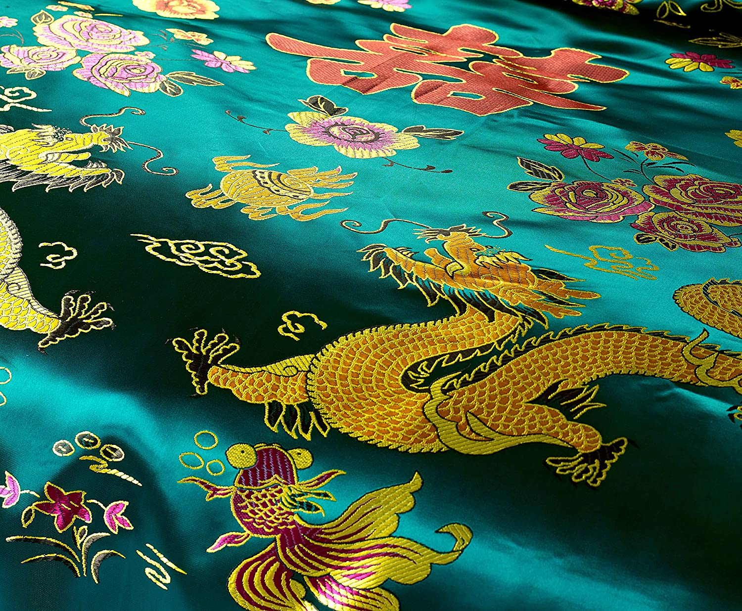 Amazoncom Cliab Chinese Traditional Bedding Asian Bedding Queen - Chinese dragon comforter set