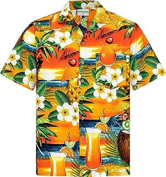 Camisa Hawaiana | Hombre | Manga Corta | 100% Algodón | S ...