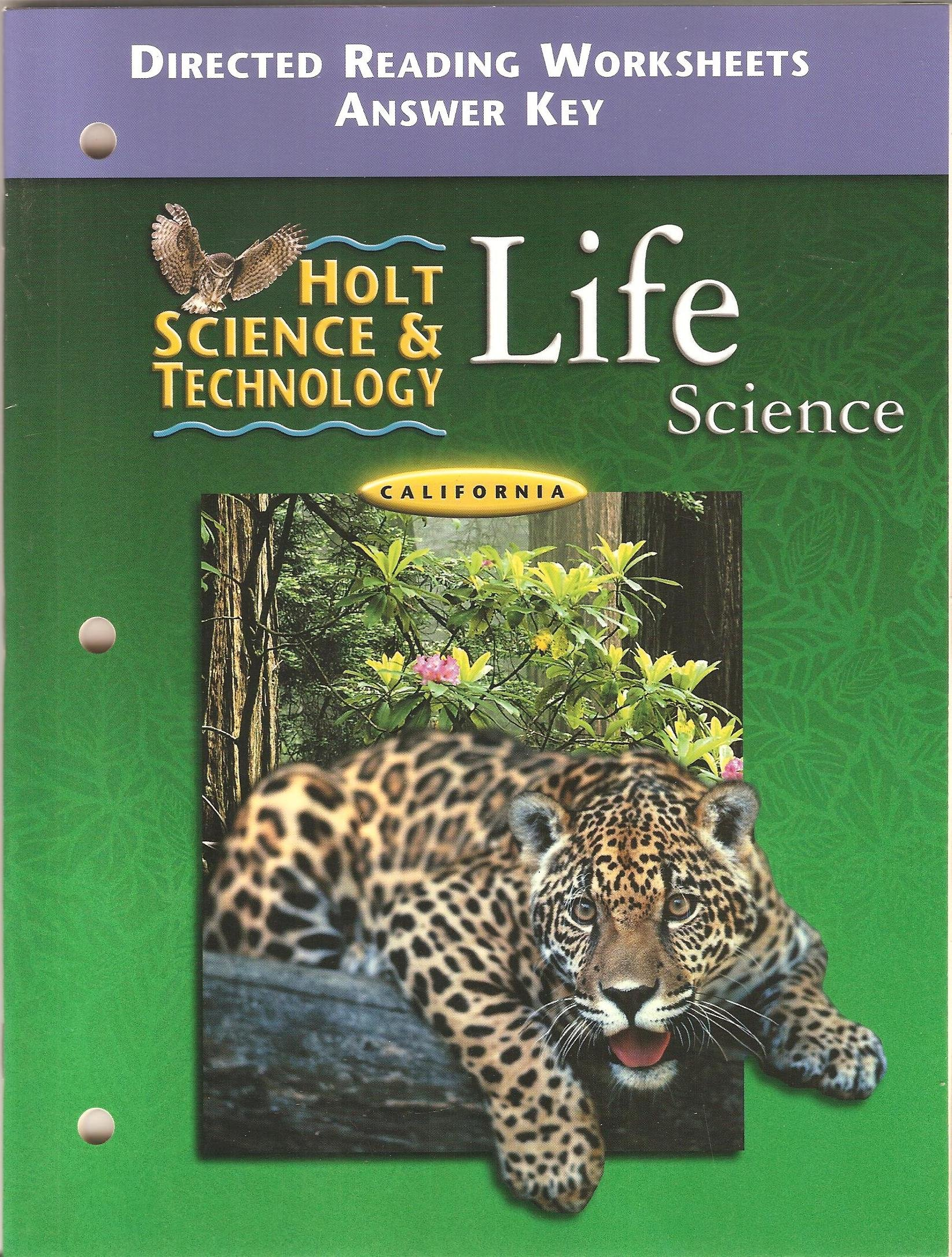 Holt Science And Technology Life Science California Directed Reading