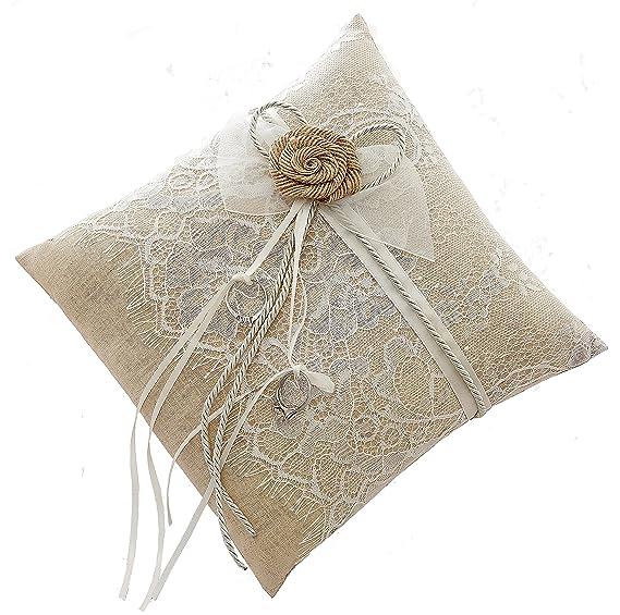 Anillos de boda almohada cojín 21 cm * 21 cm),,Ephedra