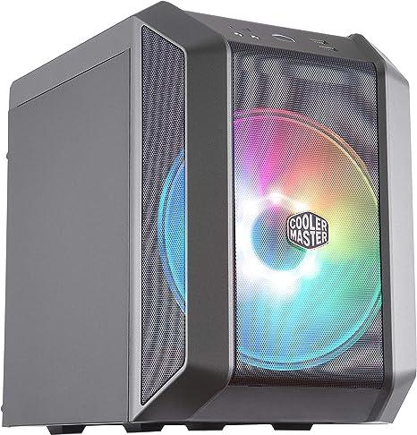 Cooler Master MasterCase H100 ARGB – Caja PC Mini-ITX con Potente Flujo de Aire, Chasis Compacto Frontal Mallado, Capacidad de Hardware Flexible: Amazon.es: Informática