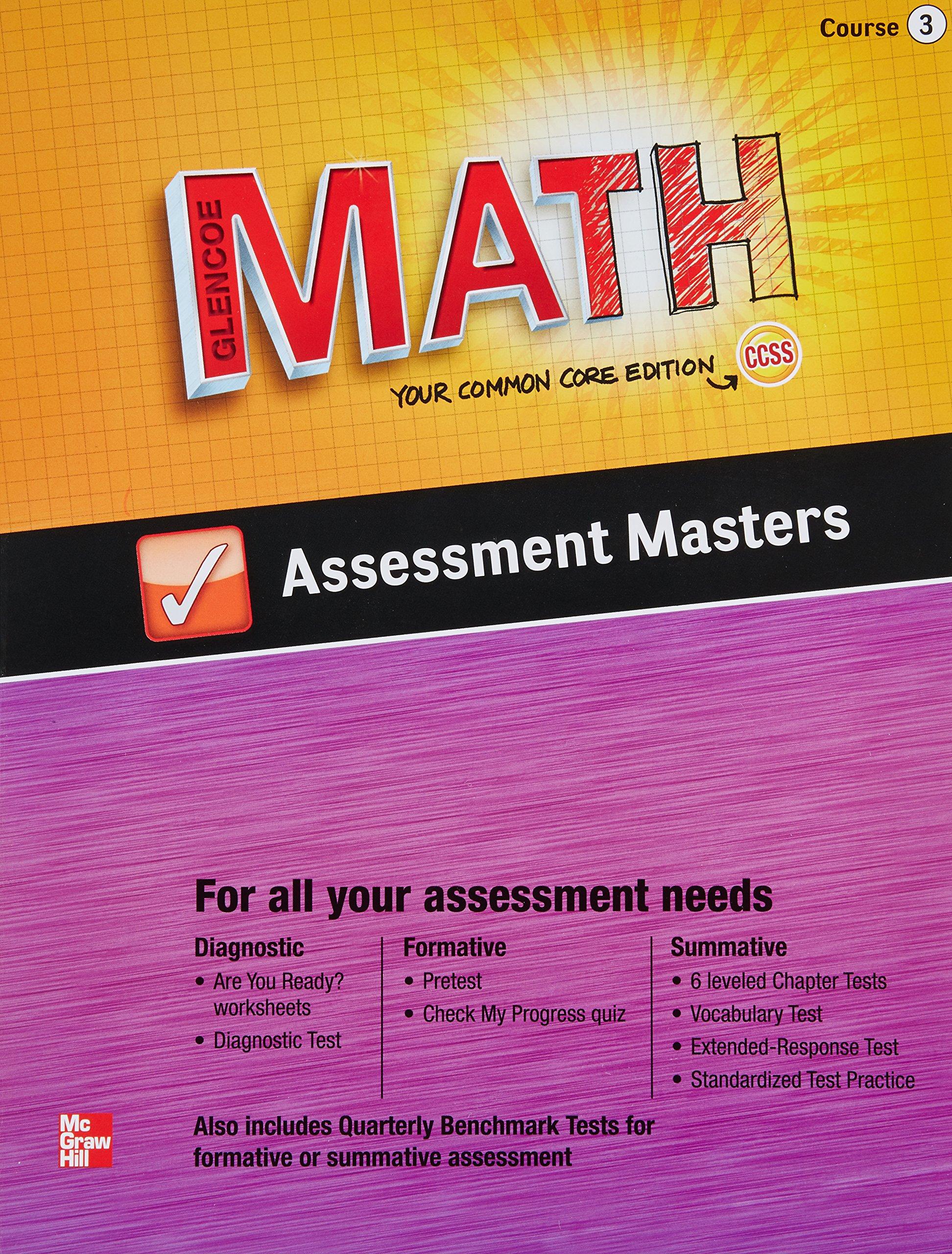 Amazon.com: Glencoe Math Your Common Core Edition CCSS Course 3 ...