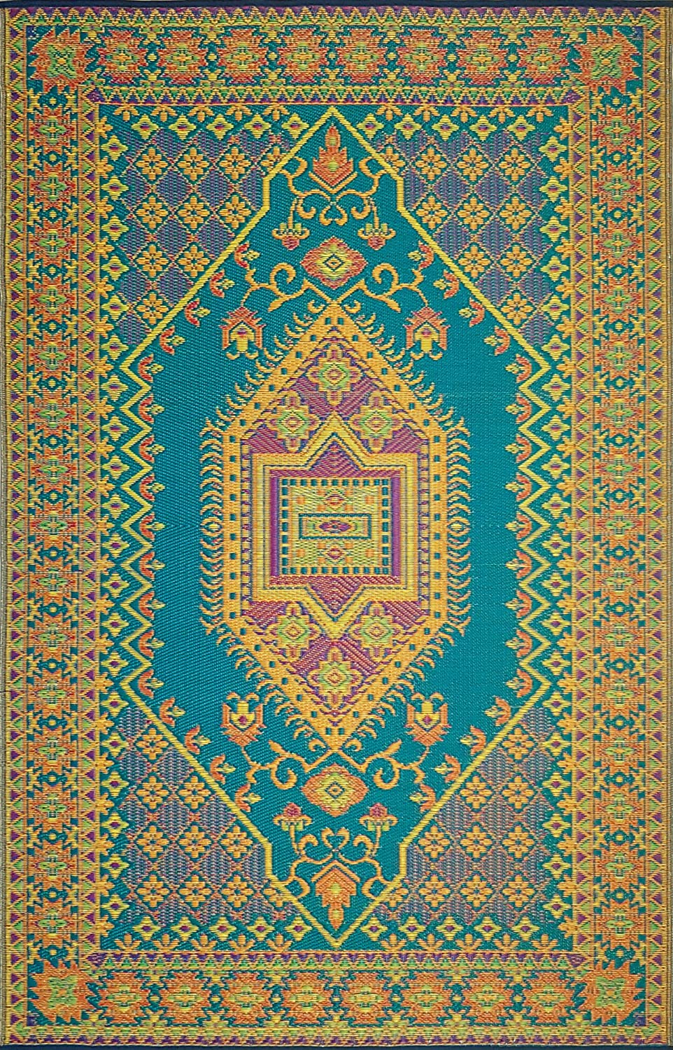 golden martinez outdoor indoor deco nika art mats coral pin mat blue floor