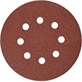 DEWALT DW4310 5-Inch 8 Hole 100 Grit Hook and Loop Random Orbit Sandpaper (25-Pack)