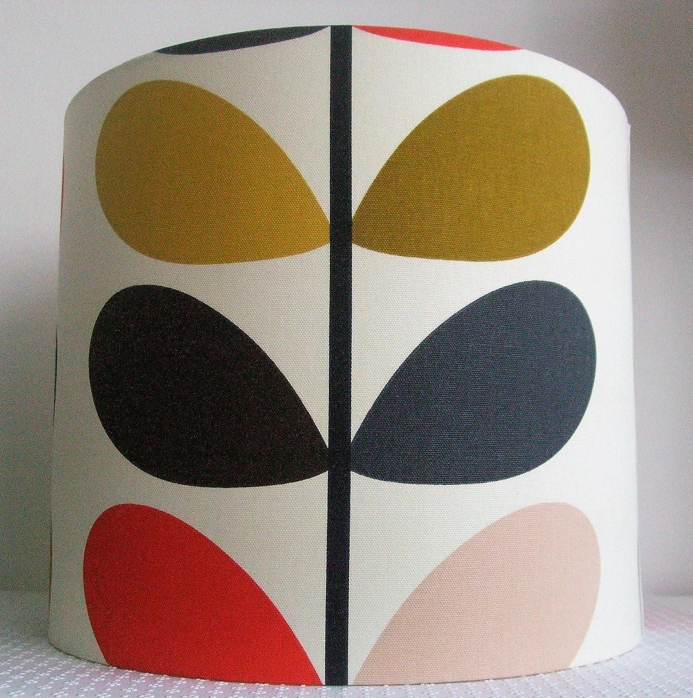 Orla Kiely Tomato Linear Stem - Handmade Ceiling Lampshade 35cm Drum