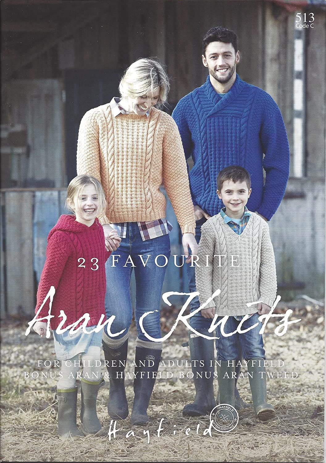 940dad3e825c Hayfield Sirdar Bonus Aran 400g Design Book - 513 - 23 Favourite Aran Knits  for Children