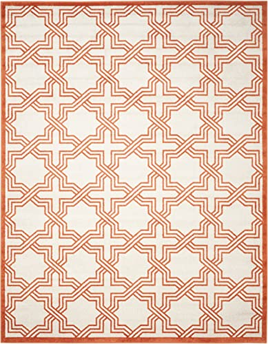 Safavieh Amherst Collection AMT413F Geometric Area Rug, 9 x 12 , Ivory Orange