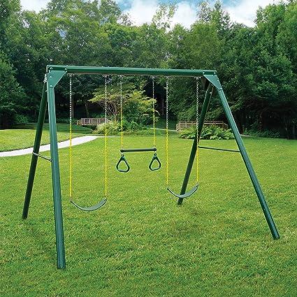 Amazoncom Swing N Slide Orbiter Complete Wooden Swing Set Safety