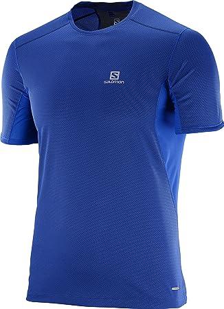 38cf6d4b55a9 Salomon Men s Trail Runner Short Sleeve T-Shirt  Amazon.co.uk ...