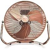 Brandson 50cm Macchina del vento/Ventilatore | 3-livelli di potenza | Modello 2018 | 120W di potenza assorbita | Design Retro in Metallo | Colore: Rame