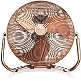 Brandson - Macchina del vento / Ventilatore da 50cm | 3-livelli di potenza | 120W di potenza assorbita | Design Retro / Metallo / Rame