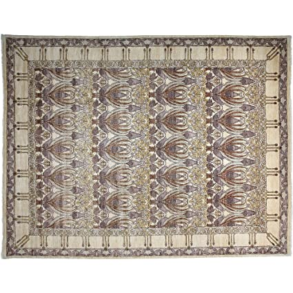 Amazon Com Area Rug Art Deco 9 X 12 Purple Wool Hand Knotted