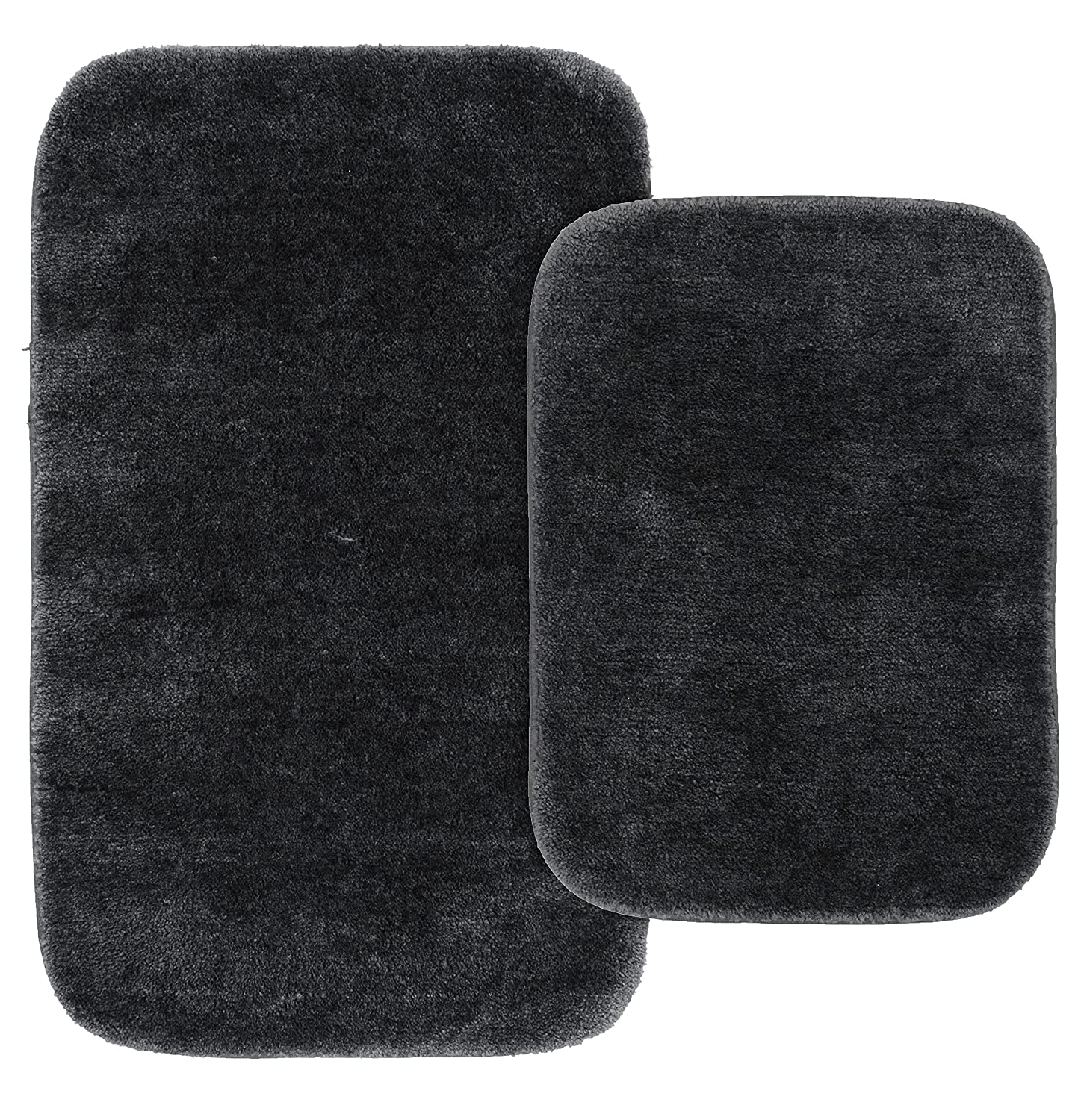 Garland Rug BA010W2P04K2 Traditional Bath Rug Set, 2-Piece Set, Navy
