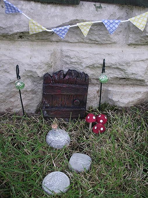 Fairy Windows Hanging Tree Decoration Pixie Door Relaxdays Garden Trunk Brown Weatherproof 3 Piece
